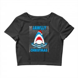 jaws christmas Crop Top | Artistshot