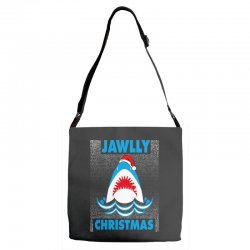 jaws christmas Adjustable Strap Totes | Artistshot