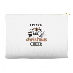 i run on coffee jesus and christmas cheer Accessory Pouches | Artistshot