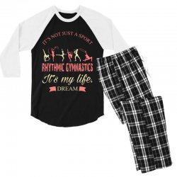 Rhythmic gymnastics - Motivational Men's 3/4 Sleeve Pajama Set | Artistshot