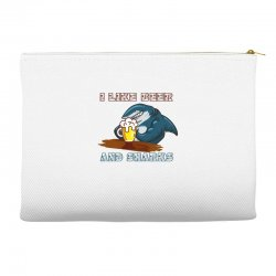 i like beer and sharks Accessory Pouches | Artistshot