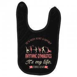 Rhythmic gymnastics - Motivational Baby Bibs | Artistshot