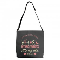 Rhythmic gymnastics - Motivational Adjustable Strap Totes | Artistshot