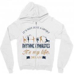 Rhythmic gymnastics - Motivational Zipper Hoodie | Artistshot