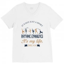 Rhythmic gymnastics - Motivational V-Neck Tee | Artistshot