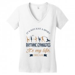 Rhythmic gymnastics - Motivational Women's V-Neck T-Shirt | Artistshot