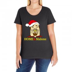 home malone christmas sweatshirt Ladies Curvy T-Shirt | Artistshot