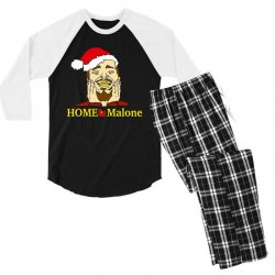 home malone christmas sweatshirt Men's 3/4 Sleeve Pajama Set | Artistshot