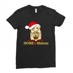 home malone christmas sweatshirt Ladies Fitted T-Shirt | Artistshot