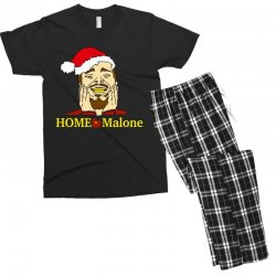 home malone christmas sweatshirt Men's T-shirt Pajama Set | Artistshot