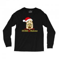 home malone christmas sweatshirt Long Sleeve Shirts | Artistshot