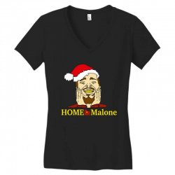home malone christmas sweatshirt Women's V-Neck T-Shirt | Artistshot