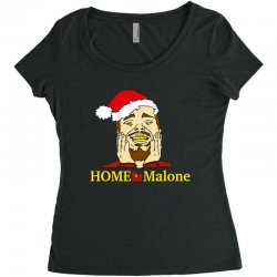 home malone christmas sweatshirt Women's Triblend Scoop T-shirt | Artistshot