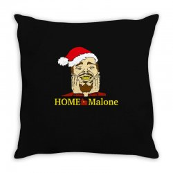 home malone christmas sweatshirt Throw Pillow | Artistshot