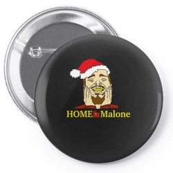 home malone christmas sweatshirt Pin-back button | Artistshot