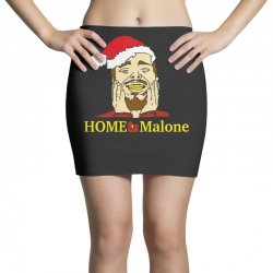 home malone christmas sweatshirt Mini Skirts | Artistshot
