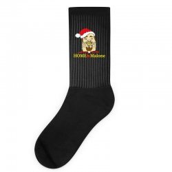 home malone christmas sweatshirt Socks | Artistshot