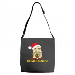 home malone christmas sweatshirt Adjustable Strap Totes | Artistshot