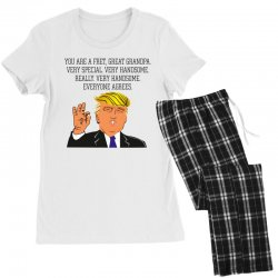 grandpa donald trump coffee Women's Pajamas Set | Artistshot