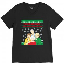 golden girls  may all your christmas V-Neck Tee | Artistshot