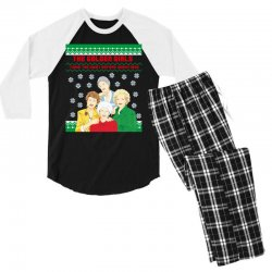 golden girls  may all your christmas Men's 3/4 Sleeve Pajama Set | Artistshot