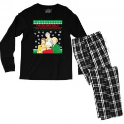 golden girls  may all your christmas Men's Long Sleeve Pajama Set | Artistshot