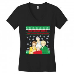 golden girls  may all your christmas Women's V-Neck T-Shirt | Artistshot
