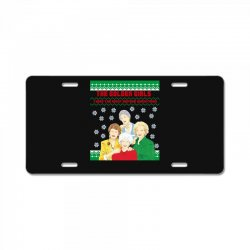 golden girls  may all your christmas License Plate | Artistshot