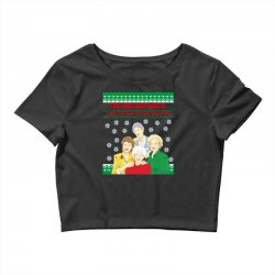 golden girls  may all your christmas Crop Top | Artistshot