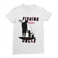 fishing uncle Ladies Fitted T-Shirt | Artistshot