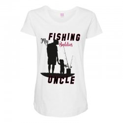 fishing uncle Maternity Scoop Neck T-shirt | Artistshot