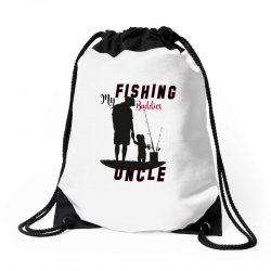 fishing uncle Drawstring Bags | Artistshot