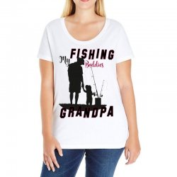 fishing grandpa Ladies Curvy T-Shirt | Artistshot