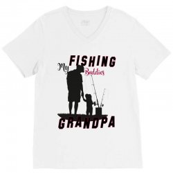 fishing grandpa V-Neck Tee | Artistshot