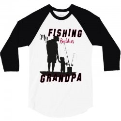 fishing grandpa 3/4 Sleeve Shirt | Artistshot