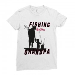 fishing grandpa Ladies Fitted T-Shirt | Artistshot