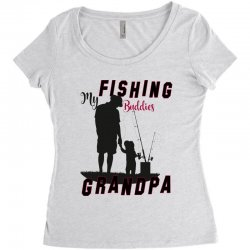 fishing grandpa Women's Triblend Scoop T-shirt | Artistshot