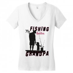 fishing grandpa Women's V-Neck T-Shirt | Artistshot