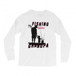 fishing grandpa Long Sleeve Shirts | Artistshot