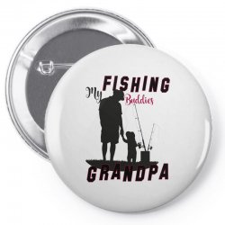 fishing grandpa Pin-back button | Artistshot