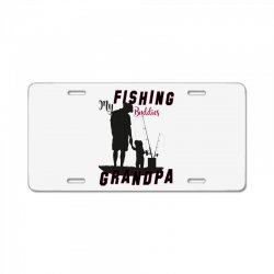fishing grandpa License Plate | Artistshot
