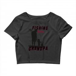 fishing grandpa Crop Top | Artistshot