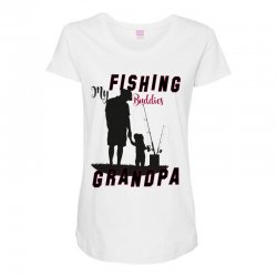 fishing grandpa Maternity Scoop Neck T-shirt | Artistshot