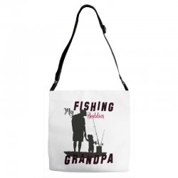 fishing grandpa Adjustable Strap Totes | Artistshot