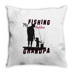 fishing grandpa Throw Pillow | Artistshot