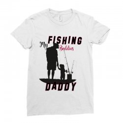 fishing daddy Ladies Fitted T-Shirt | Artistshot