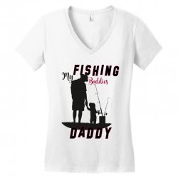 fishing daddy Women's V-Neck T-Shirt | Artistshot