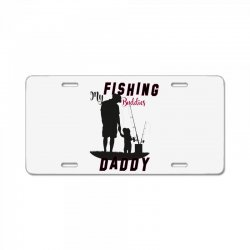 fishing daddy License Plate | Artistshot