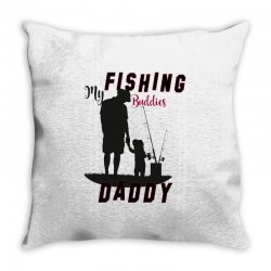 fishing daddy Throw Pillow | Artistshot