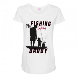 fishing daddy Maternity Scoop Neck T-shirt | Artistshot